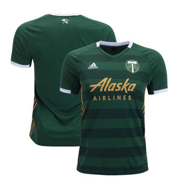 pretty nice 27f4c 4669a Portland Timbers 2019 Home Jersey Men's Stadium Soccer Shirt Green from  JerseyHunt