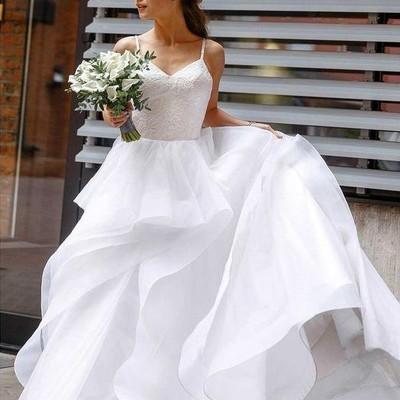 4055d2128e8 Sweet girl wedding dresses lace bodice horsehair trim skirt