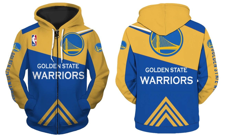 fc184626c Golden State Warriors Full Zipper Hoodie NBA Basketball Sweatshirts New  Season