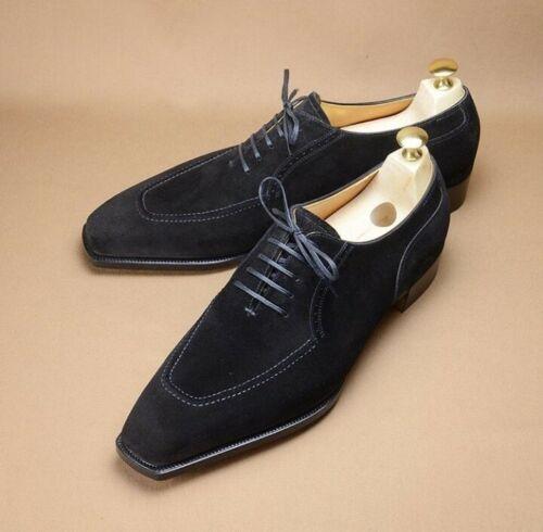 Shoe Maker Men Black Suede Shoes Men