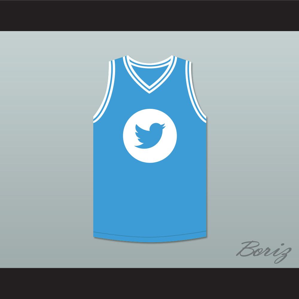 new styles bef1c 110ea Larry Bird 33 Twitter Light Blue Basketball Jersey from acbestseller
