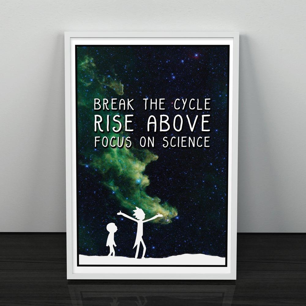 Rick and Morty Focus on Science Poster; TV Poster Unframed Pop Culture Decor