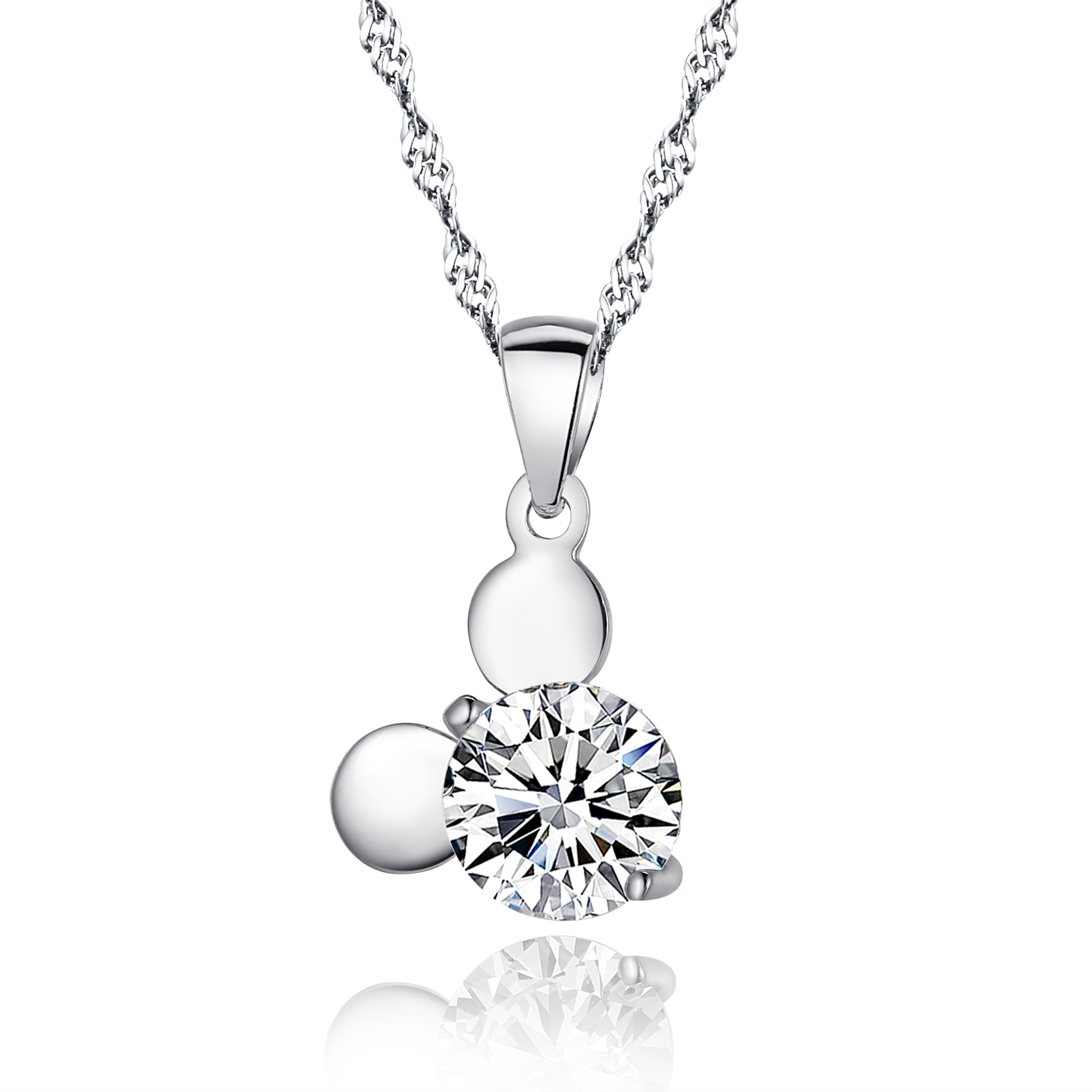genuine sterling 925 silver pendant necklace jewelry with. Black Bedroom Furniture Sets. Home Design Ideas