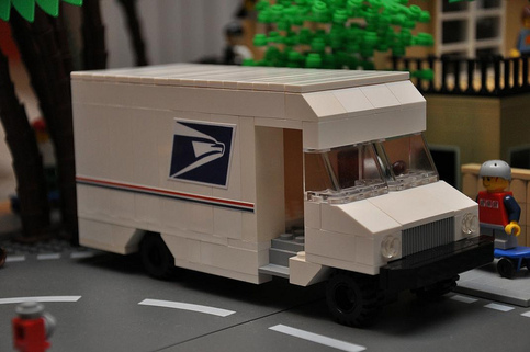 Custom Lego City Mail Delivery Truck On Storenvy