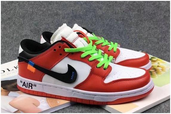 timeless design a87d3 6c9e7 The Lastest Footwear OFF White x Nike Dunk SB Low Red White Black  Basketball Shoe Factory Outlet from BELLDRESS