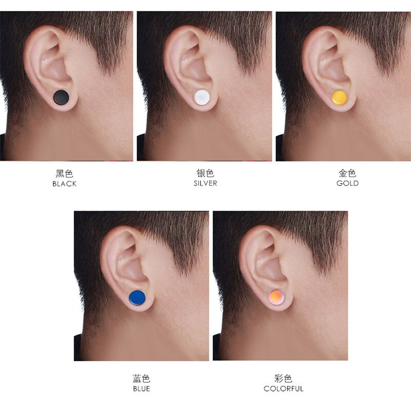 Piercing Strong Piece Mens Jewelry Ear Magnetic Punk Non Gift
