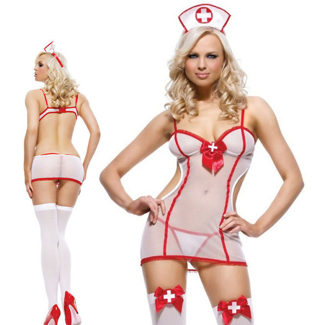31ab68fbd Sexy Costume Nurse Cosplay See Through Uniform Temptation Lady Lingerie on  Storenvy