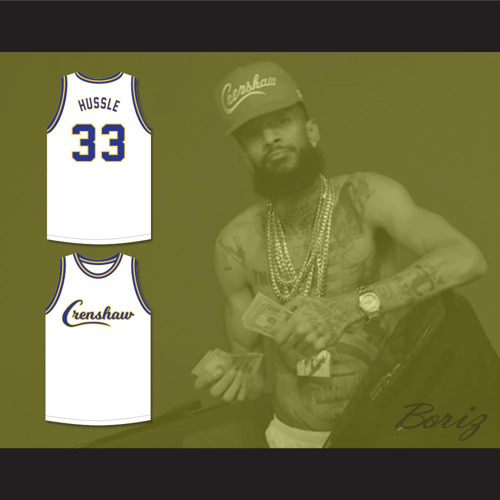 3226b1aca7a ... Nipsey Hussle 33 Crenshaw White Basketball Jersey - Thumbnail ...