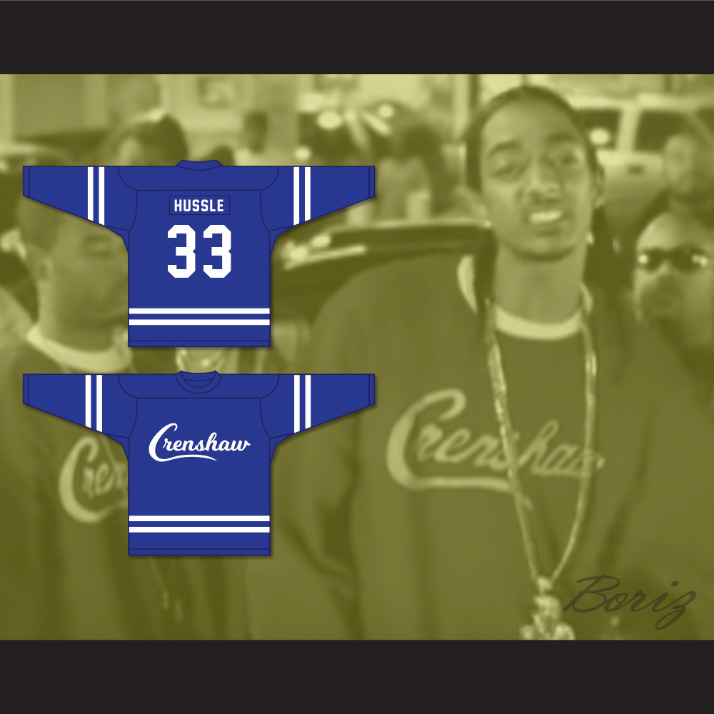 a76e447d335 Nipsey Hussle 33 Crenshaw Blue Hockey Jersey · acbestseller · Online Store  Powered by Storenvy