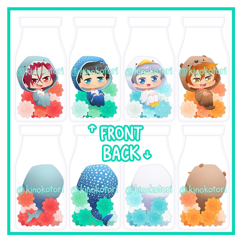 Free! konpeito charms from Kinokotori