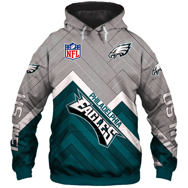 newest 4c433 faeb8 Philadelphia Eagles NFL Team Football Hoodie Silver Edition Sweatshirts
