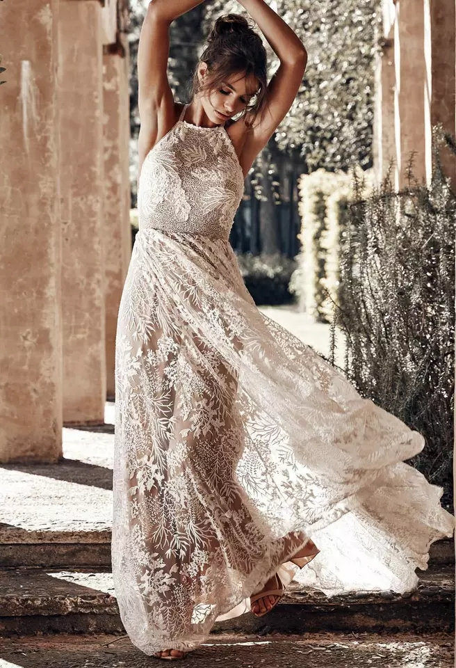 Aria Beach Boho Lace Wedding Tulle Dress Garden Bridal Gown From Curvy Brides