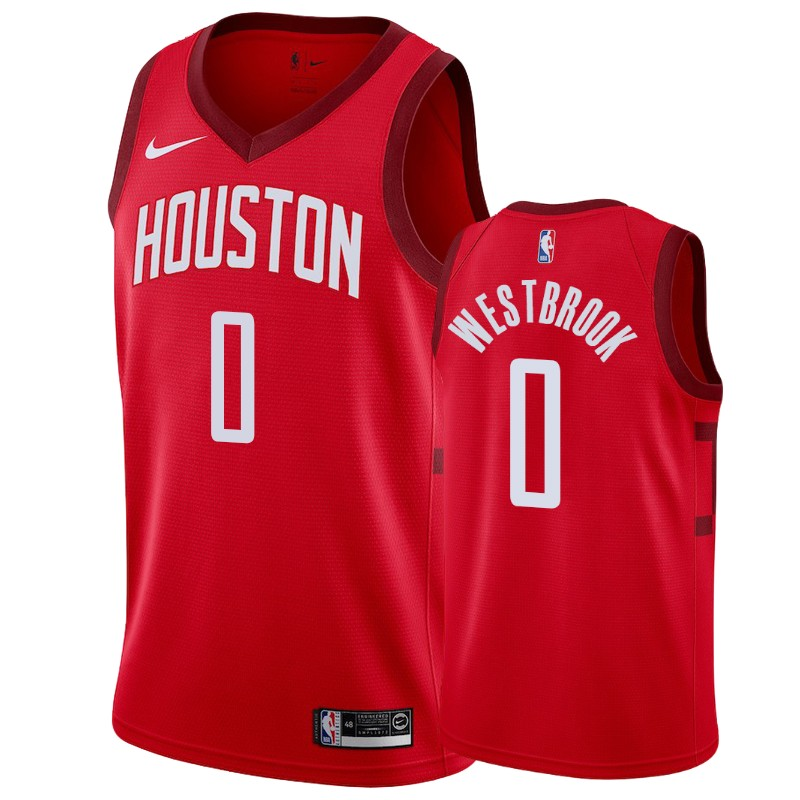 meet e9f22 a628c Men's Houston Rockets Russell Westbrook Icon Red Jersey S-2XL