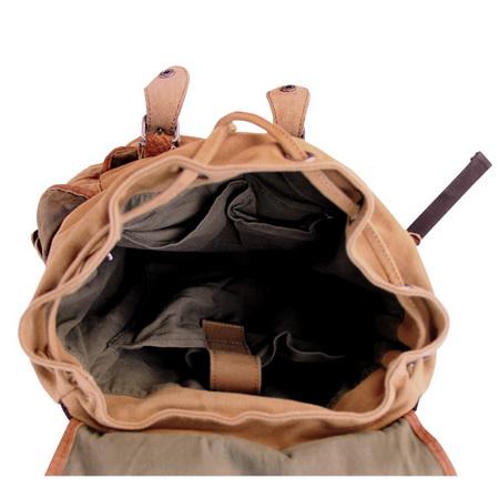 07c461f0e07d ... Retro leather-trimmed canvas hunter backpacks - Thumbnail 3 ...
