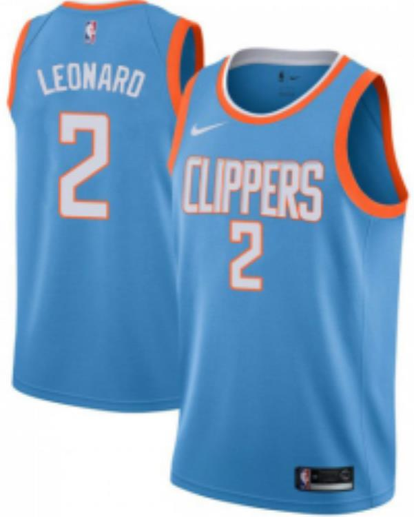 first rate d2b1f 6d694 Mens Los Angeles Clippers Kawhi Leonard 2019-20 Blue City Edition Jersey  from flightstore