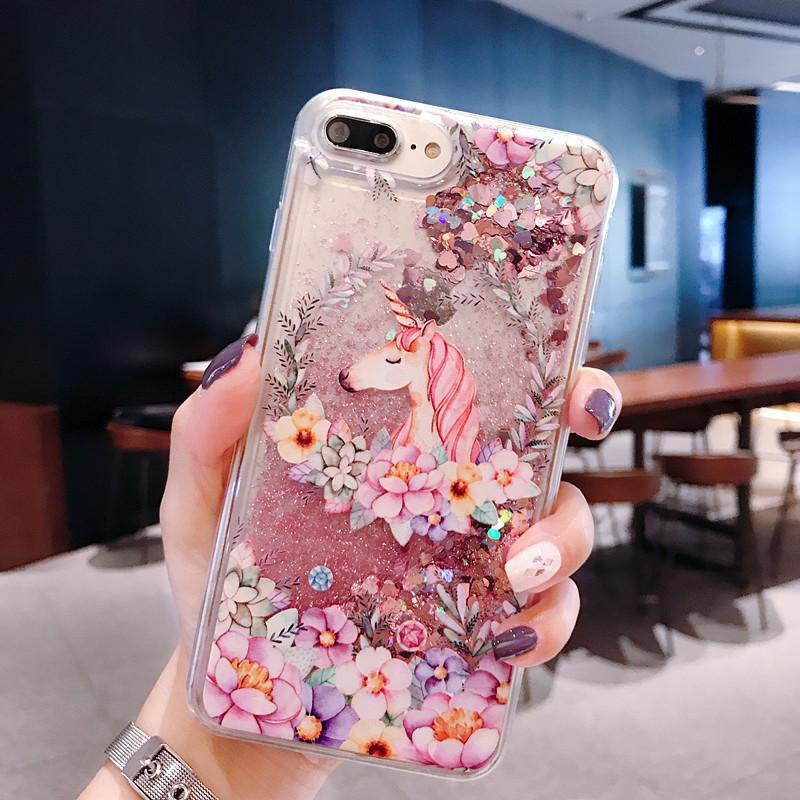 Phone Case Unicorn Liquid Quicksand