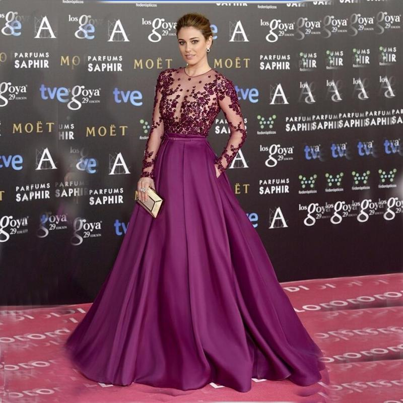 Plus Size Purple Long Sleeves Evening Gowns,Appliques Beading Prom  Dress,748 sold by Lovefashion