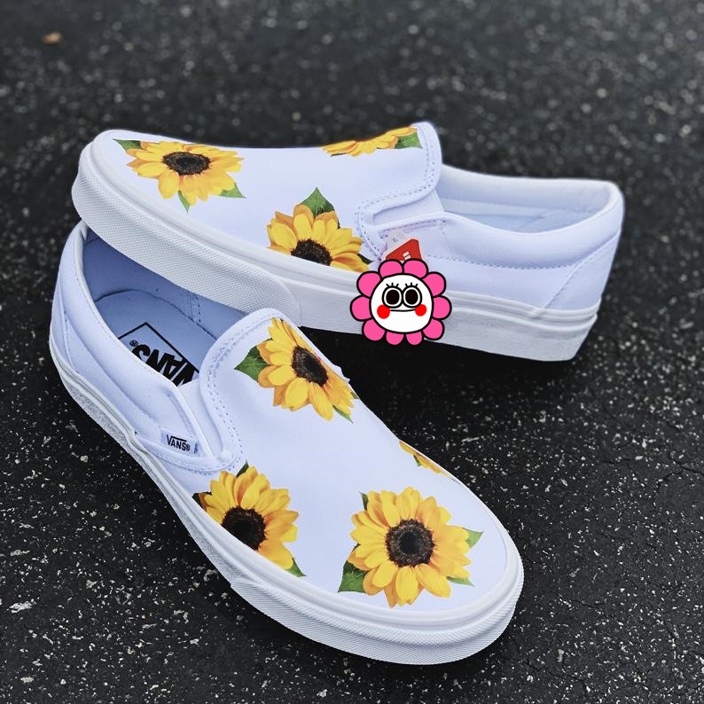 New sunflower hand-painted shoes