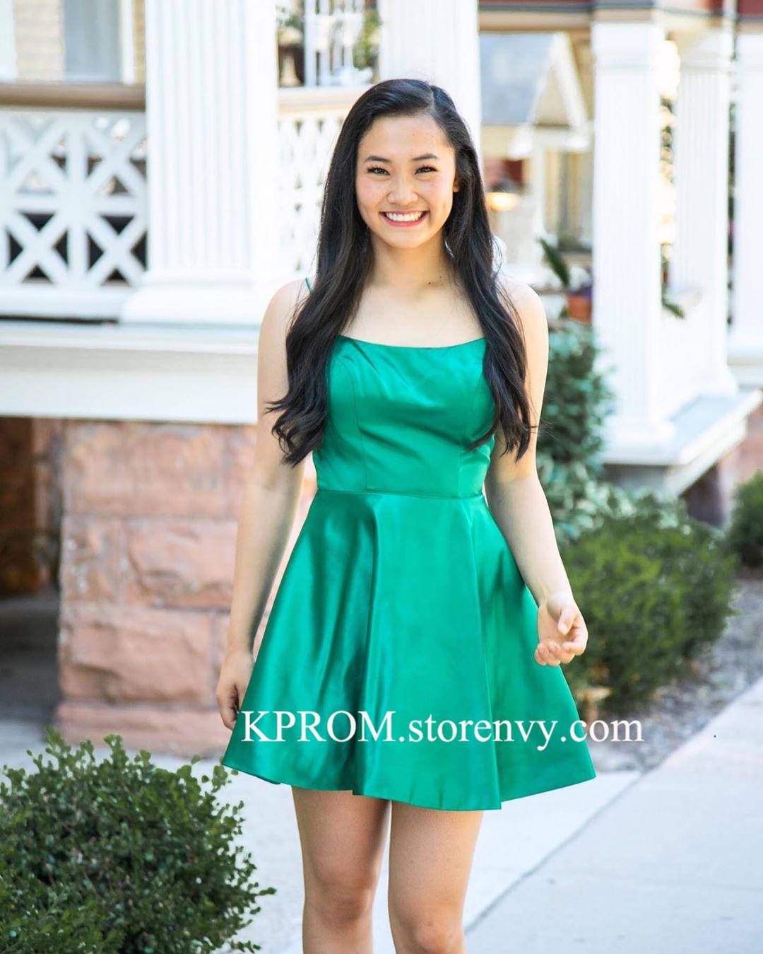 green homecoming dresses 2019 short