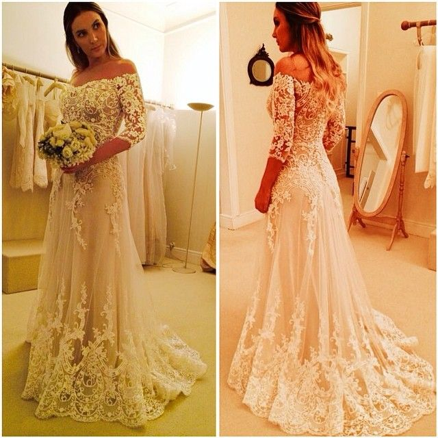 Long Sleeve Lace Wedding Dresssexy Off Shoulder Wedding Dress From Sancta Sophia