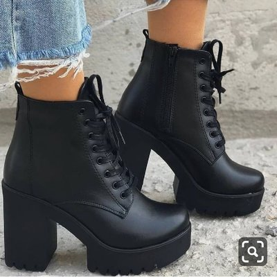 Winter black new martin boots women plus velvet boots thick heel high heel women's shoes short boots hot f6752