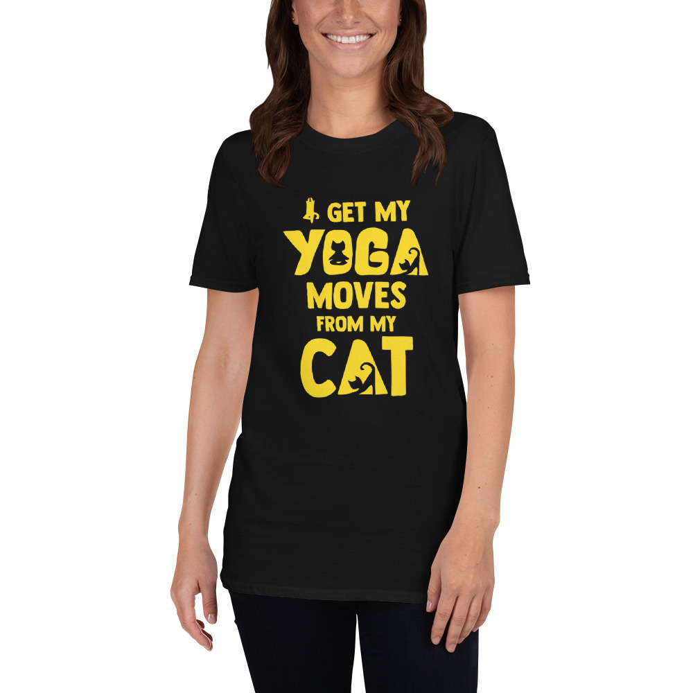 Cat And Yoga Shirt Cat Doing Yoga Print Tee Cat Silhouette With Funny Yoga Sayings Prints Graphic Tee Unisex T Shirt Sold By Passionstyletribe On Storenvy