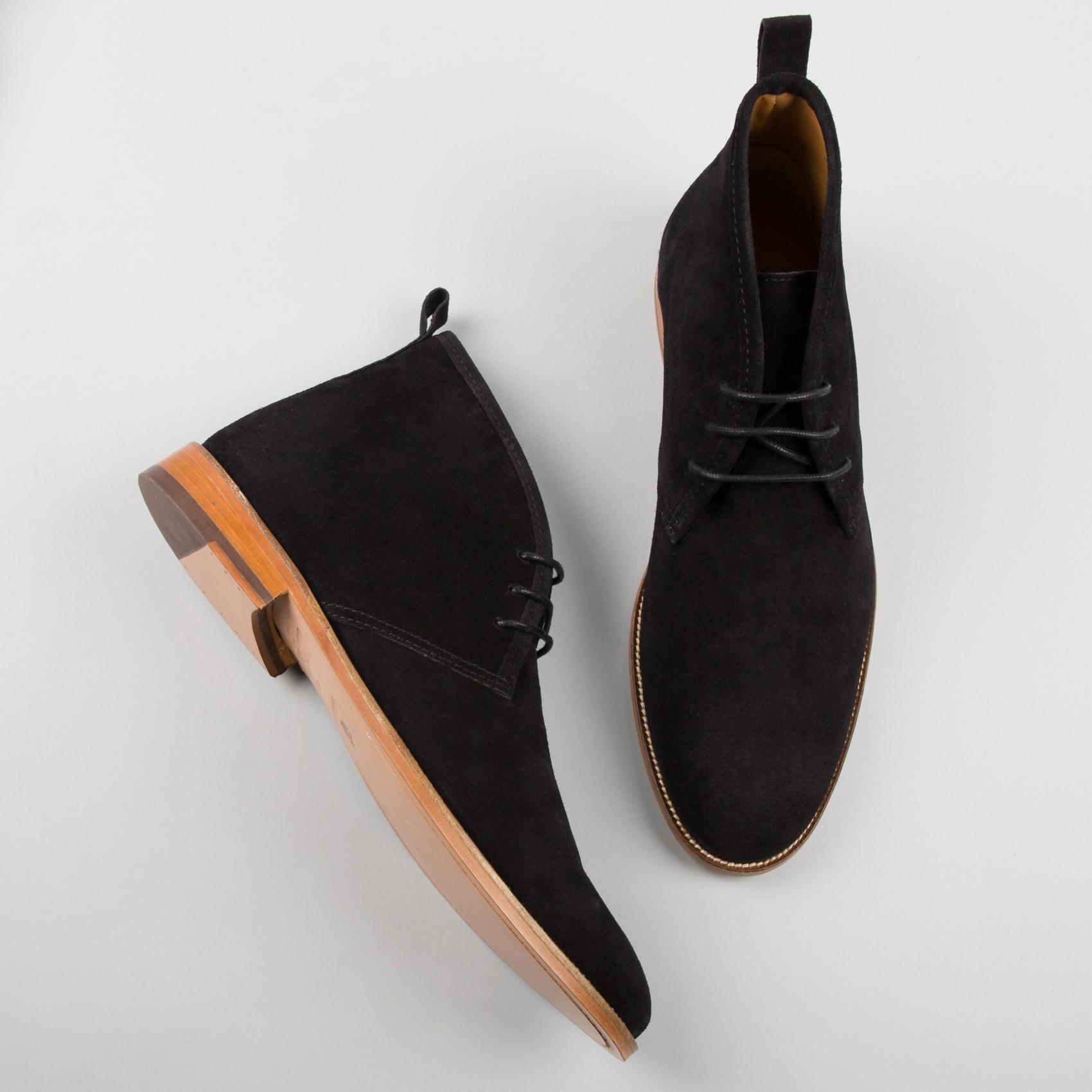 Black Suede Chukka boot, Mens chukka