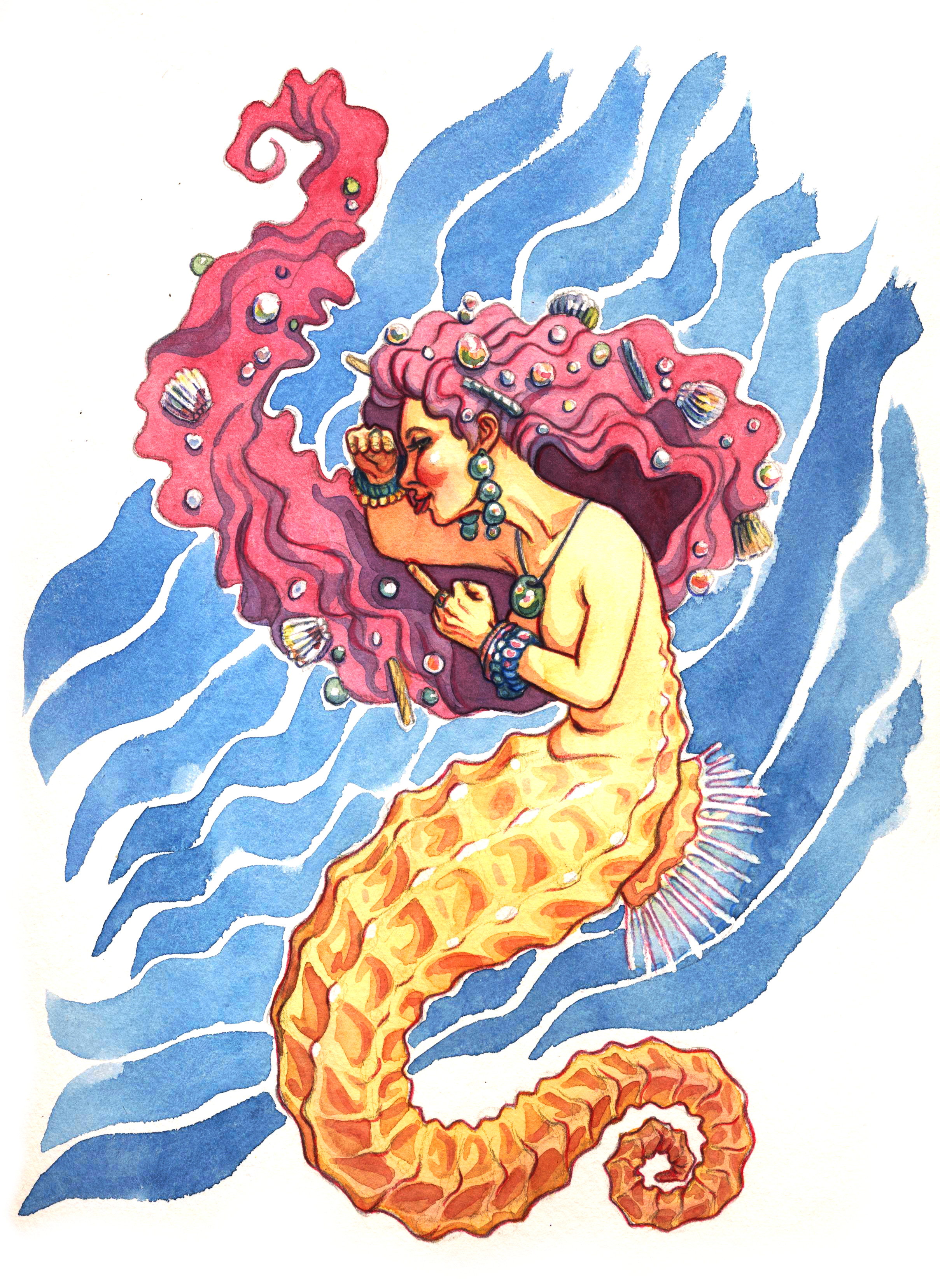 Rude Seahorse Mermaid Print Sold By Mkingamess On Storenvy