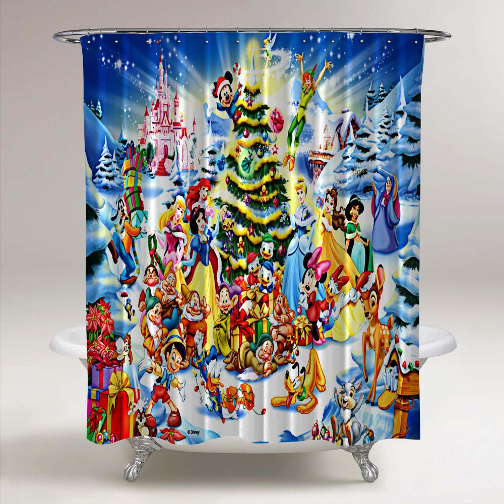 Courage the Cowardly Dog Custom Fabric Shower Curtain 60x72 Inch
