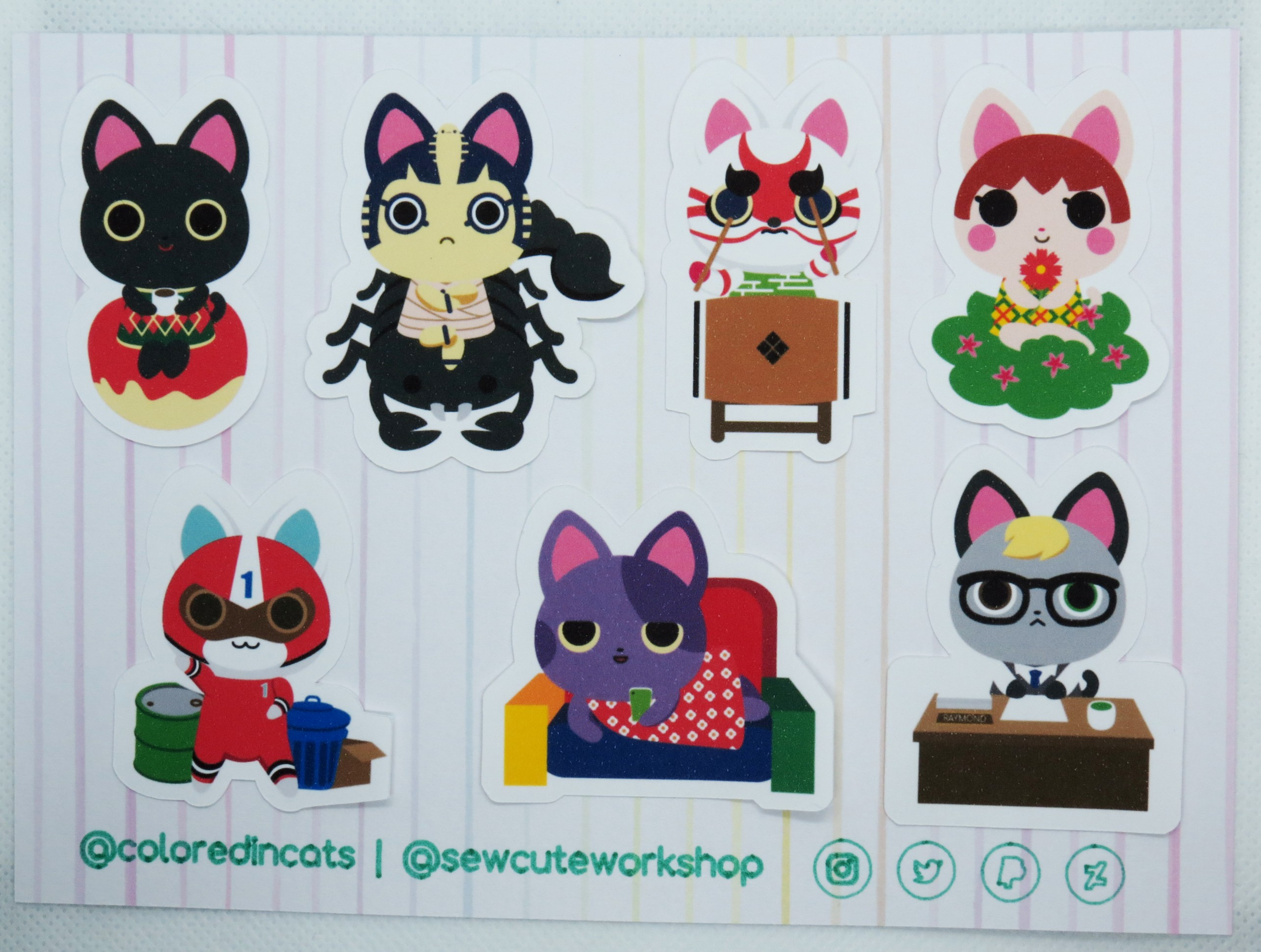 Animal Crossing Cat Villager Sticker Sheet 1 Sold By Sew Cute