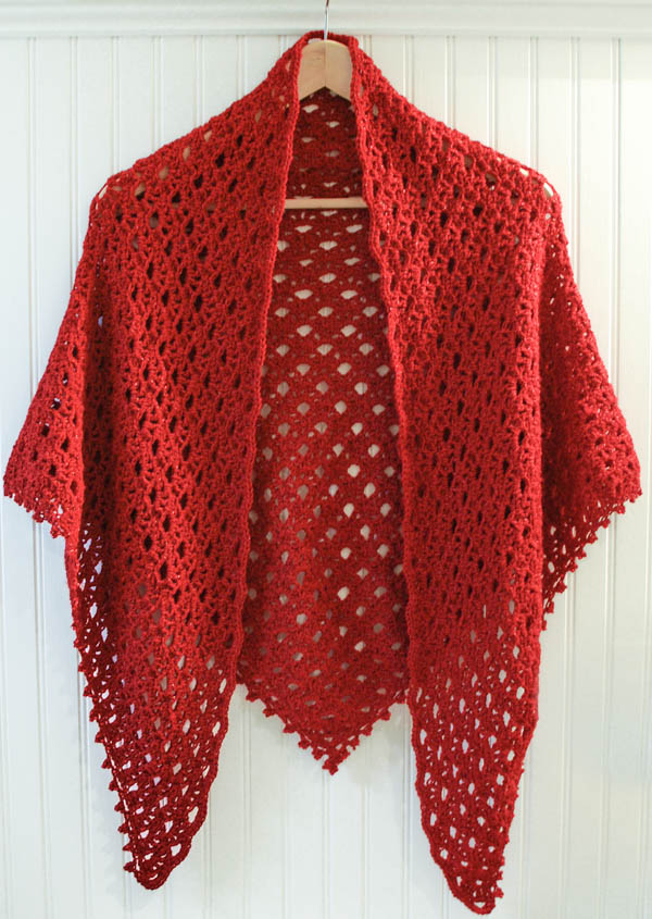 Crochet Pattern Lace Shawl With Beaded Edging Petals To Picots