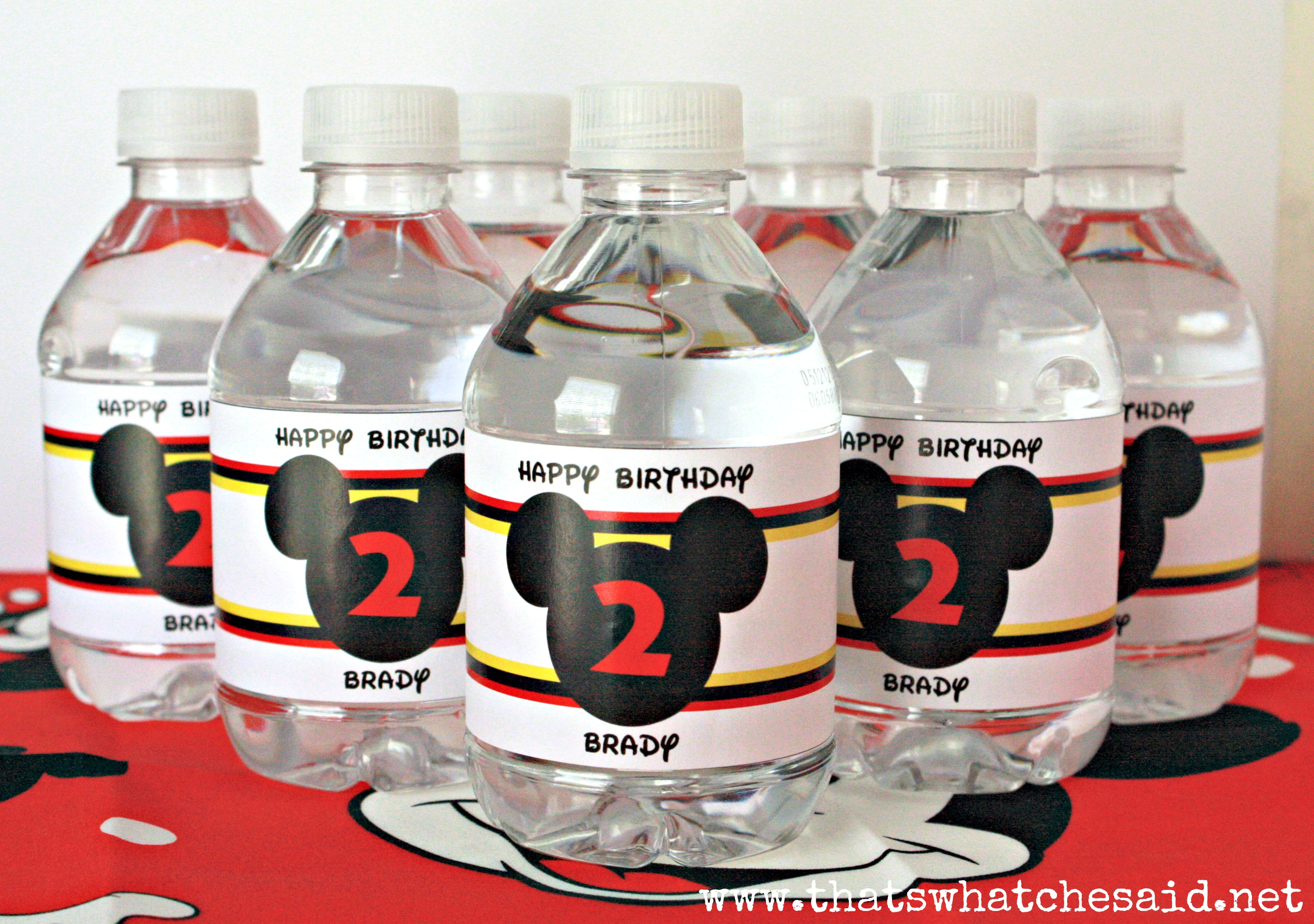 Excellent Mickey Mouse Water Bottle Labels on Storenvy NO66