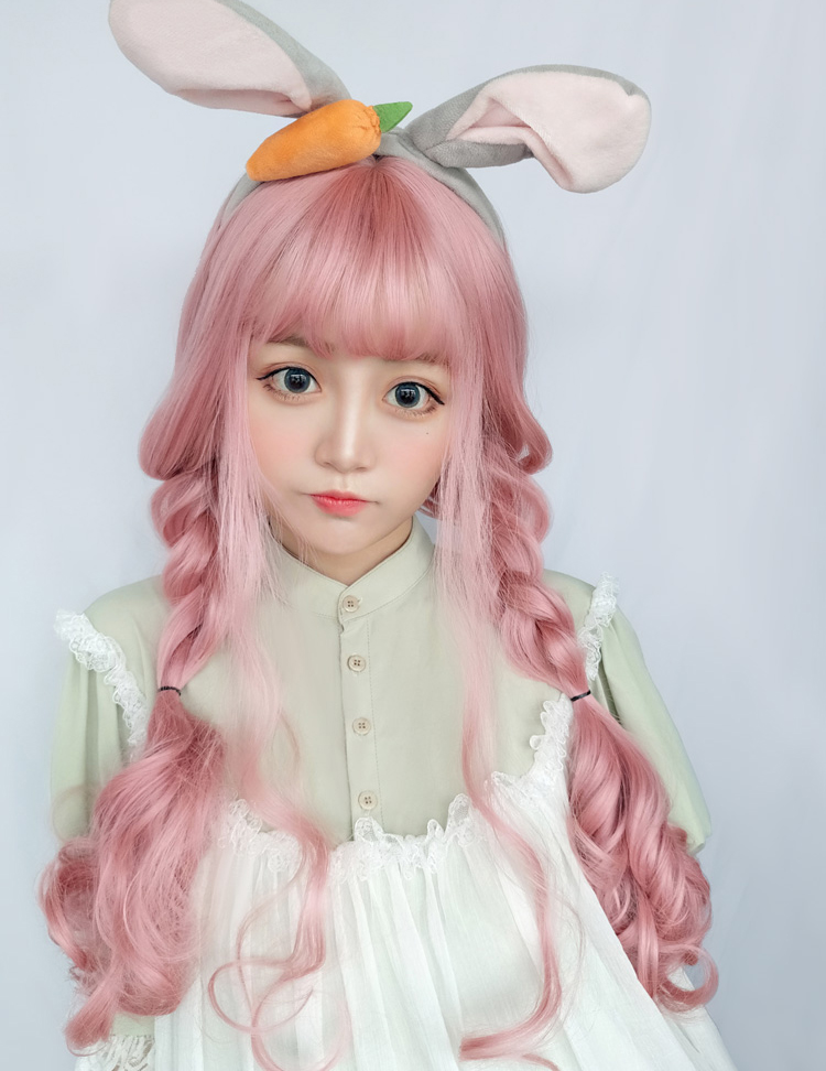 Japanese Style Pink Big Wavy Long Curly Hair Lolita Wig Himi Store Online Store Powered By Storenvy