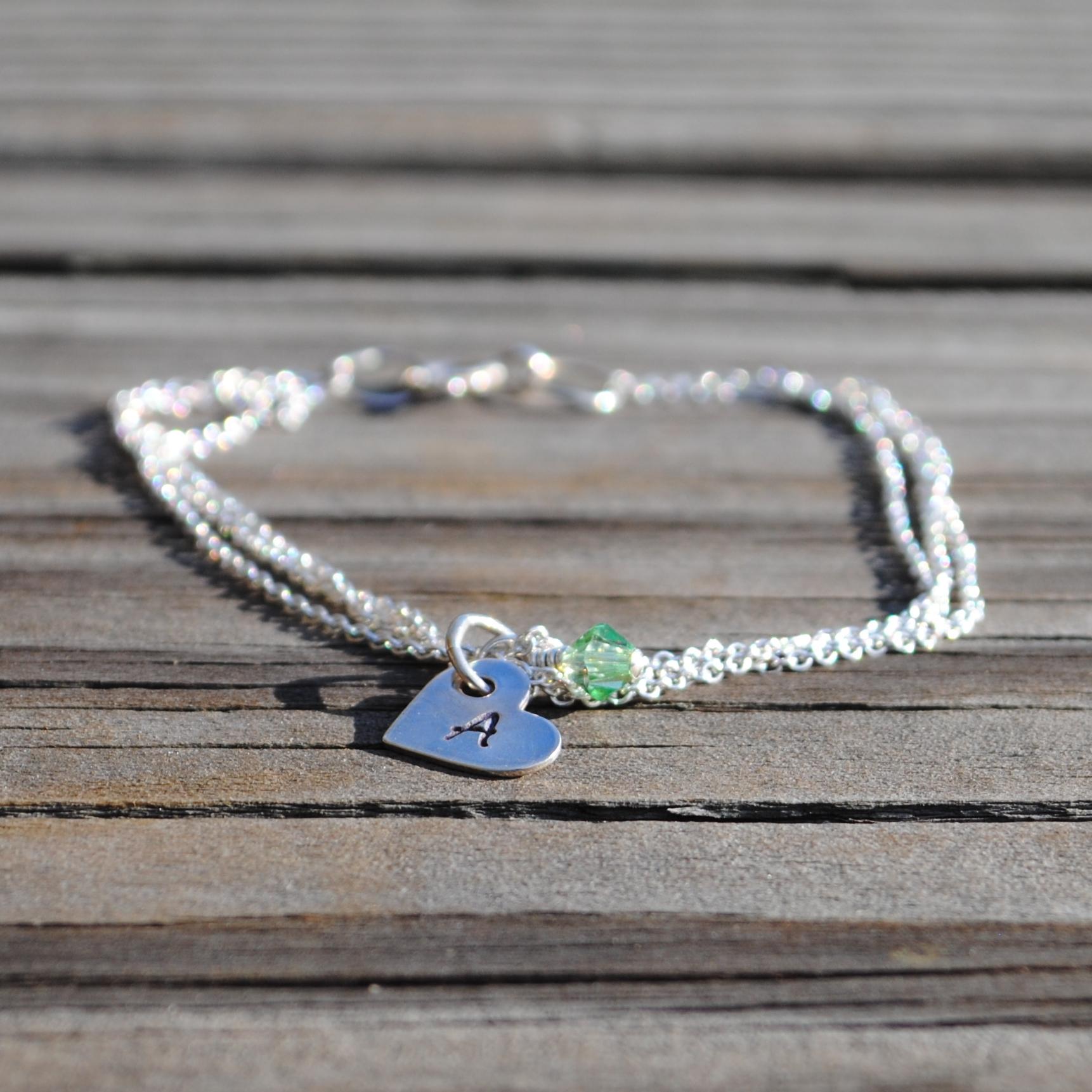 Initial Charms For Bracelets: Custom Initial Charm Bracelet On Storenvy