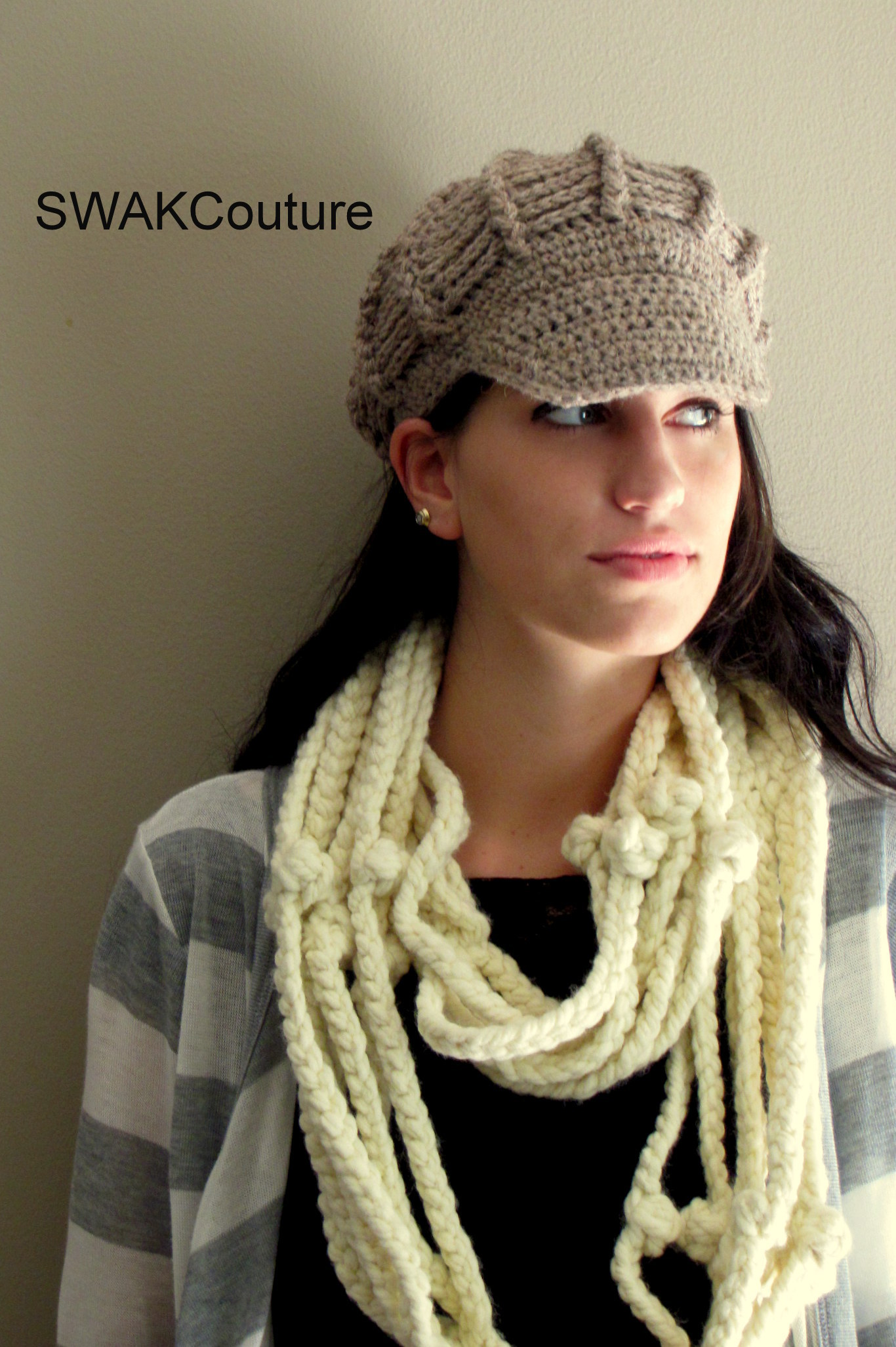 b470cbba6ec69 Wool Newsboy Hat - Taupe or CHOOSE Your Color on Storenvy