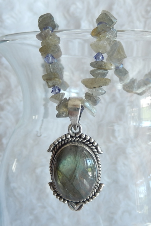 """Twilight"" Labradorite Necklace"