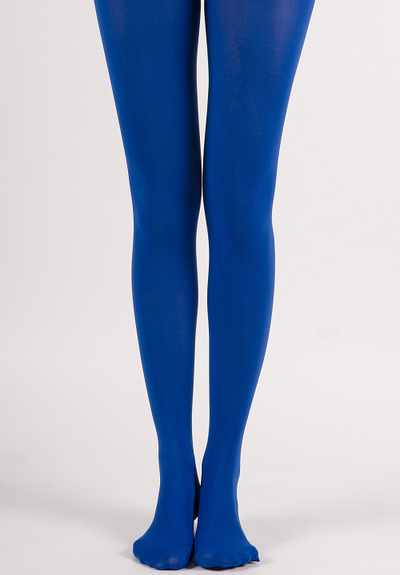 61aa363e03d Extra Full-Coverage Solid Color Soft Opaque Tights - Rich Blue ...