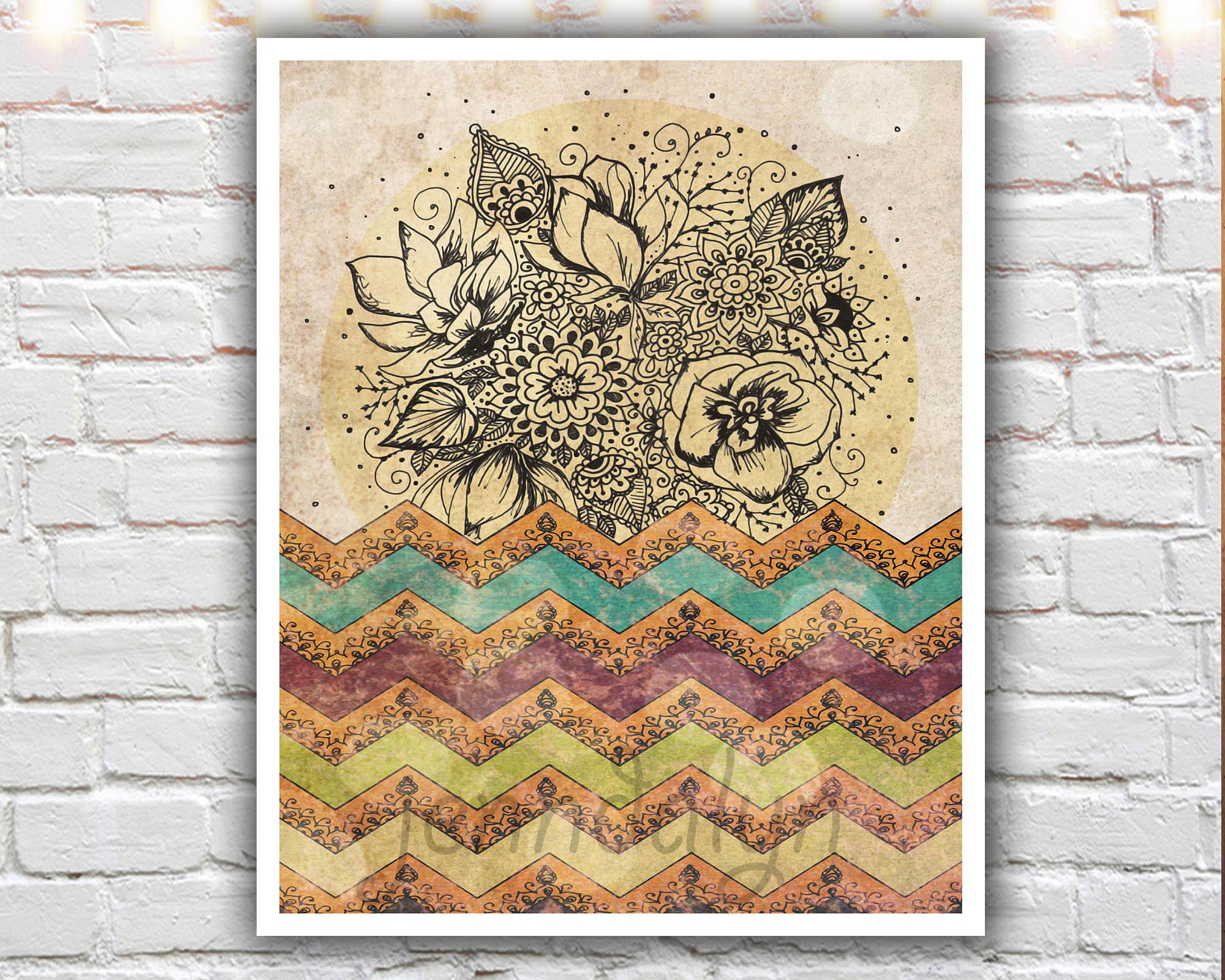 11 X 14 Paper Print, Bohemian Art