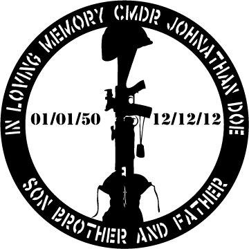 fallen soldier memoriam vinyl decal 5x5 sticker on storenvy