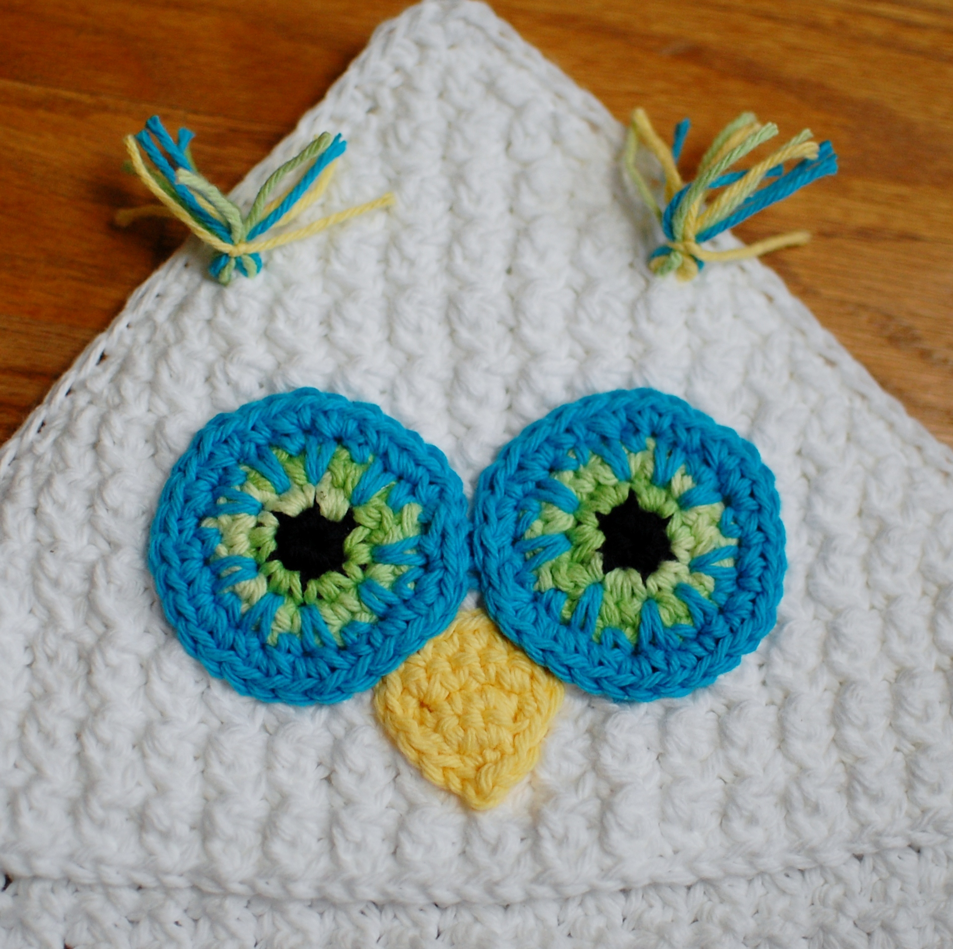 Crochet Pattern Owl Hooded Baby Towel Also Makes A Great Hooded Blanket Petals To Picots Online Store Powered By Storenvy