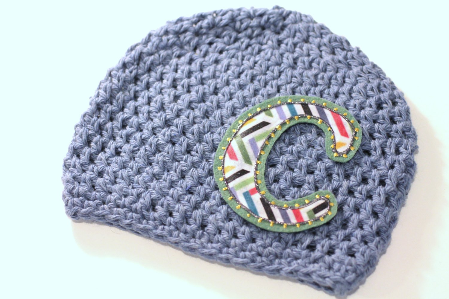 634b689e46653 Boys Hat, Personalized Baby Hat, Baby Beanie, Initials, Monogram, Baby  Gift, Photo Prop, Cotton Crochet Hat from my bubbala