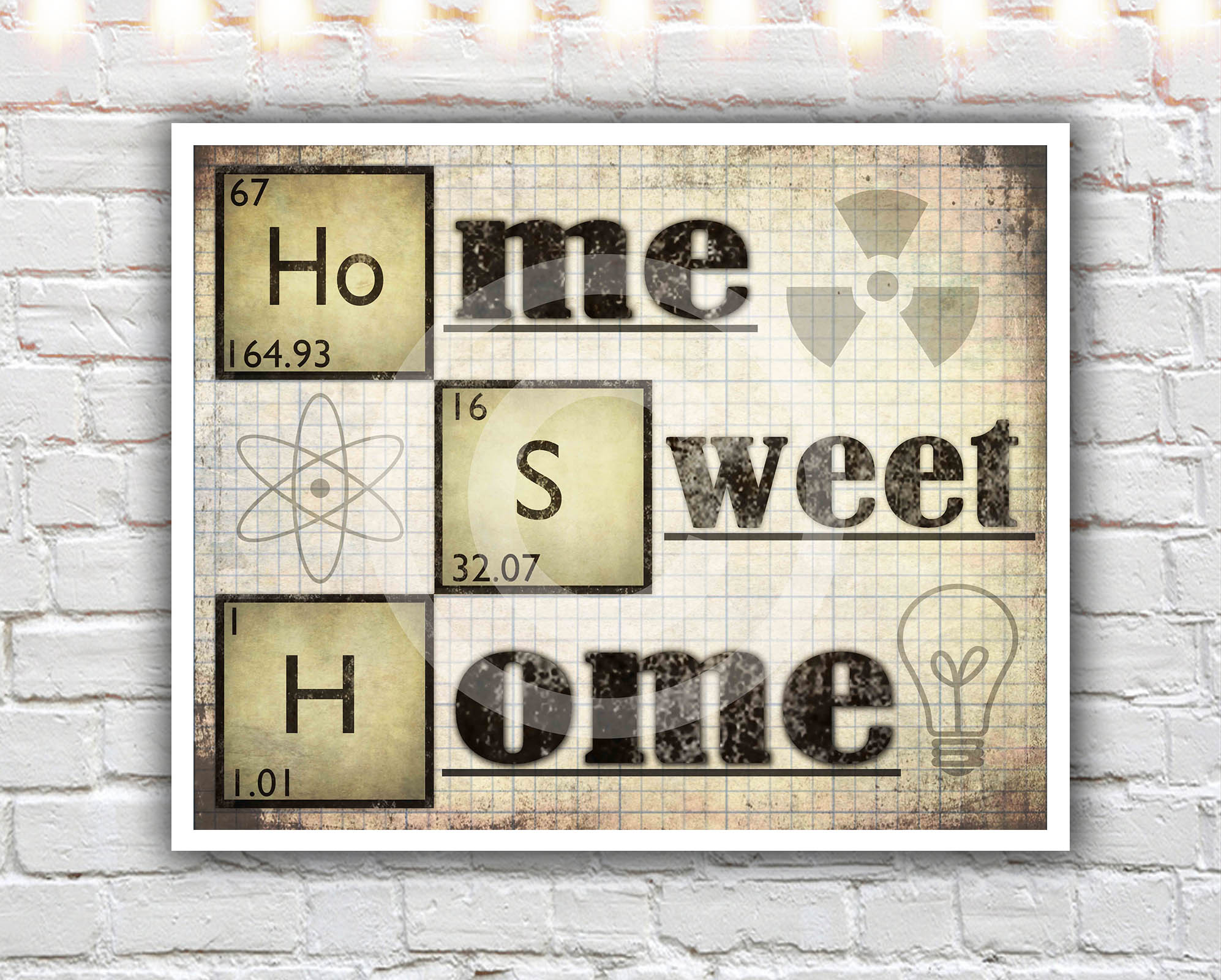 Home Sweet Home 11 X 14 Paper Print Science Poster Periodic