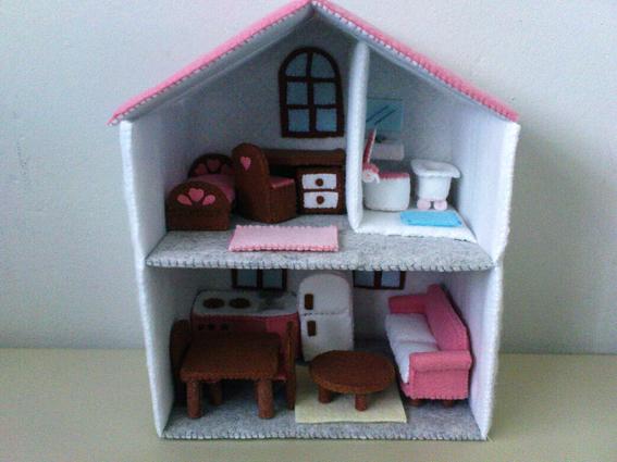 Felt Dollhouse Pattern Set Handmade Felt Miniature